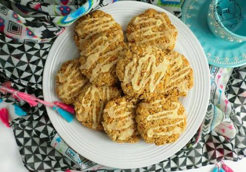 galletas de avena de zanahoria