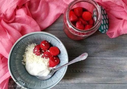 fresas en escabeche de azahar