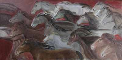 harde de 20 chevaux (détail)