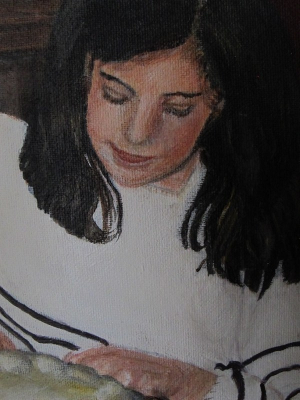 Détail jeune fille à la lettre
