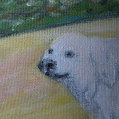Détail Fillette et le chien Artiste