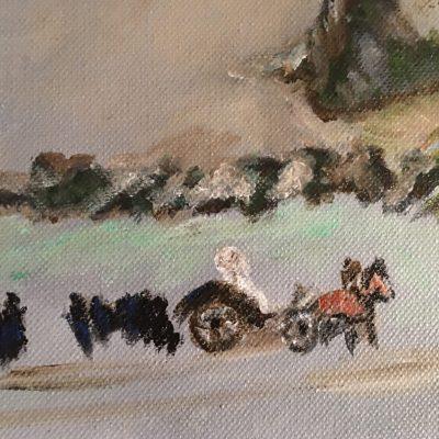 Peinture Un Dimanche aux Courses détail