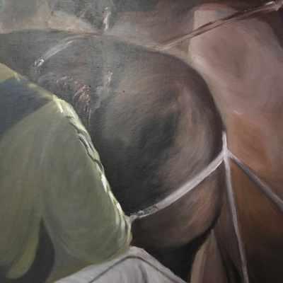 Peinture Matin d'hiver - Mérèse - détail