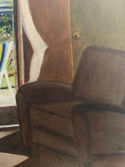Peinture vue du jardin - détail - Mérèse