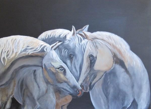 Peinture Triangle Amoureux Bis - Mérèse