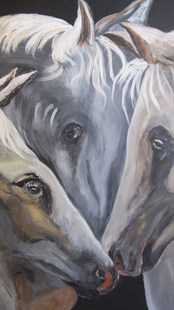 Peinture Triangle Amoureux Bis Détail - Mérèse