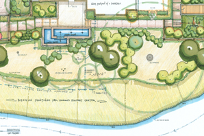 cropped image of schematic landscape design