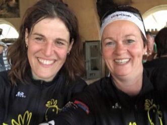 Samen met collega mmmEggie Marian trainen in de zuid-Limburgse heuvels