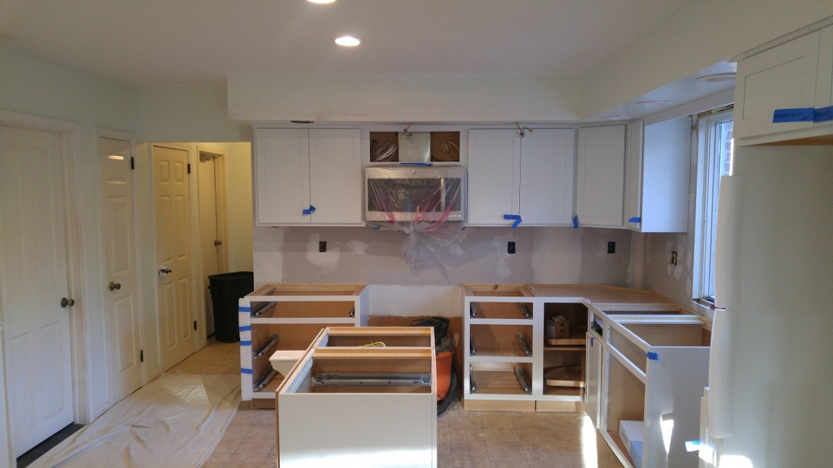 hight resolution of white kitchen remodel