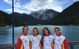 Tres piragüistas extremeñas, del Club Iuxtanam de Mérida, participan en el Campeonato Europeo de Piragüismo