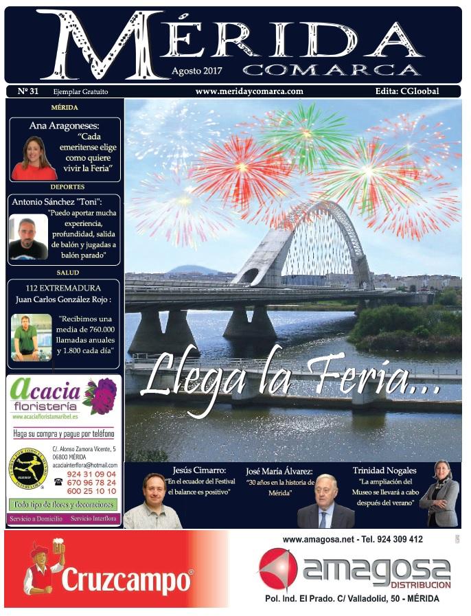 El periódico MeridaComarca, de Agosto, ya se encuentra en sus lugares habituales de distribución