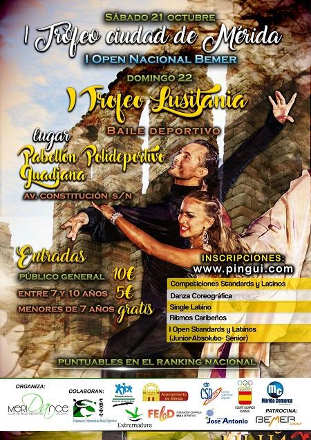 Campeonato Nacional de Baile Deportivo el 21 y 22 de Octubre , en Mérida