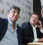Fernández Vara asiste al nombramiento de José Fouto como presidente honorífico del Merida AD
