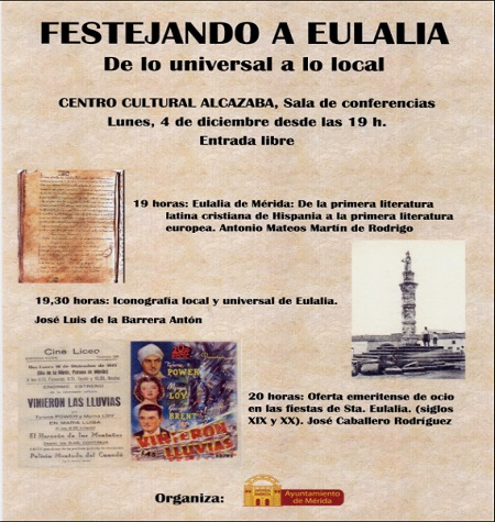 Festejando a Eulalia, una tarde de conferencias en honor a Santa Eulalia