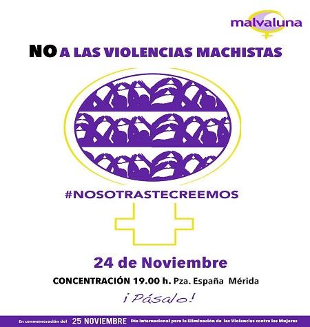 """Concentración en la Plaza de España por el """"Día Internacional contra la Violencia de Género"""""""