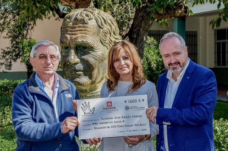 Se entrega la recaudación del XXVI Fondo Popular Don Bosco a la Fundación Juan Giraldo Venegas