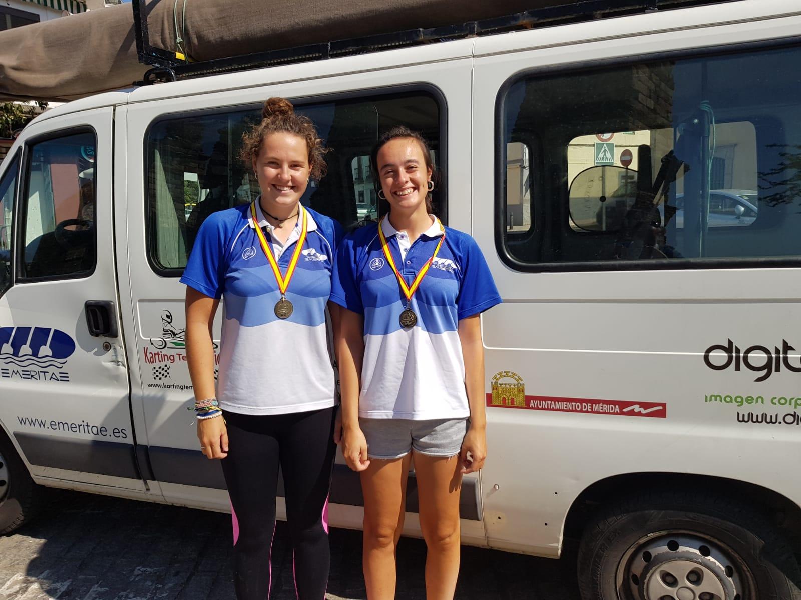Oro nacional para las piragüistas emeritenses Alicia Blanco y Alba Soriano