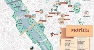 Presentado el nuevo mapa guía del Patrimonio Natural de Mérida editado por el Grupo de Ciudades Patrimonio