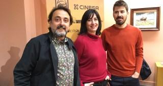 El cineasta extremeño Rubén Barbosa y el grupo Taptc? Teatro, Premios Miradas del FCIMérida
