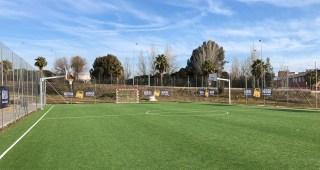 El Complejo Deportivo de La Paz cuenta con una nueva pista externa con moqueta de césped