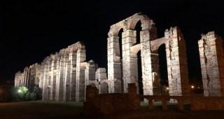 Finaliza la iluminación de los principales entornos monumentales y la Isla del Guadiana