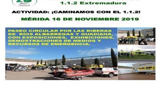 El Centro 112 de Extremadura celebra su XX aniversario con una ruta por los ríos de Mérida