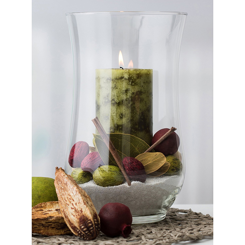 Libbey Angela Hurricane Glass Vase Candle Holder Meridiantt