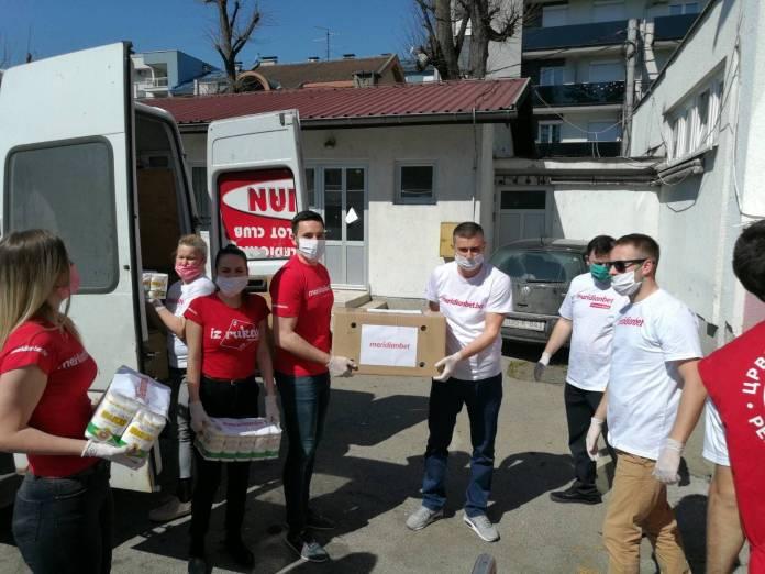 Meridian, Volonteri Meridiana pokazuju svoju humanost širom Balkana