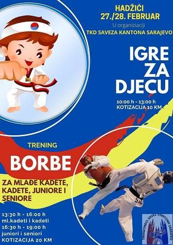 Taekvondo, Taekvondo Savez Kantona Sarajevo organizuje takmičenje za mlađe kategorije