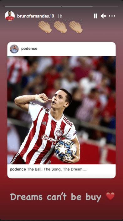 Fernandeš, Bruno Fernandeš prvi igrač klubova Superlige koji je javno izrazio nezadovoljstvo