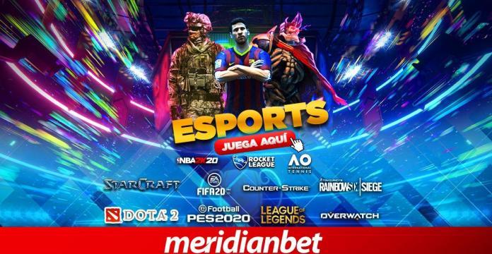 esports, ¡LO MEJOR EN ESPORTS LO ENCUENTRAS EN MERIDIANBET!