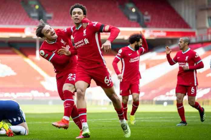 Liverpool Aston Villa, LIVERPOOL GANÓ EN EL ÚLTIMO MINUTO