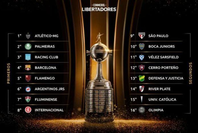 8avos Libertadores, EMPAREJAMIENTOS DE 8VOS EN LA LIBERTADORES