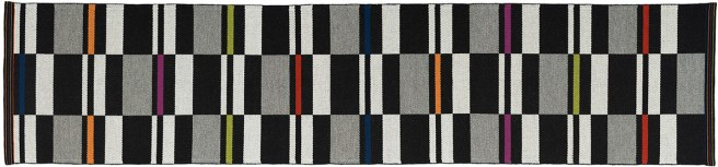 "Fibonacci Runner, 29"" wide x 126"" long wool rug by Nancy Kennedy."