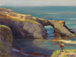Jim McVicker, Mendocino Arch, oil on panel, 12 x 16
