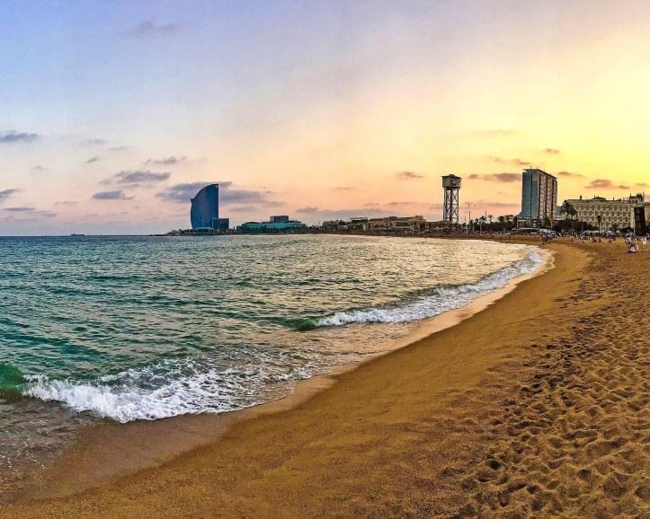 Barceloneta-tramonto