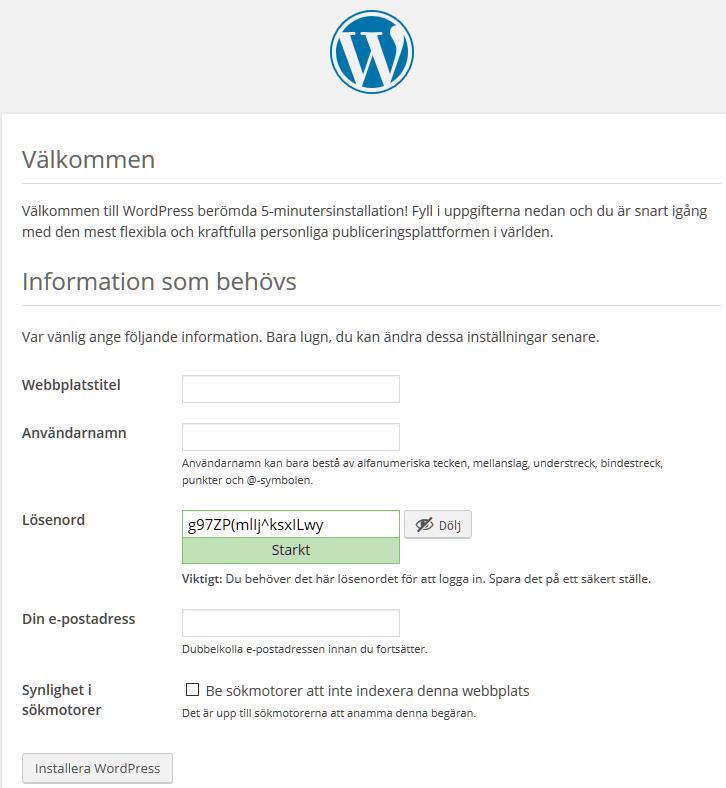 bygga hemsida wordpress