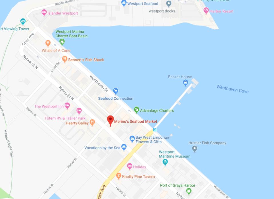 Contact Merino's Map