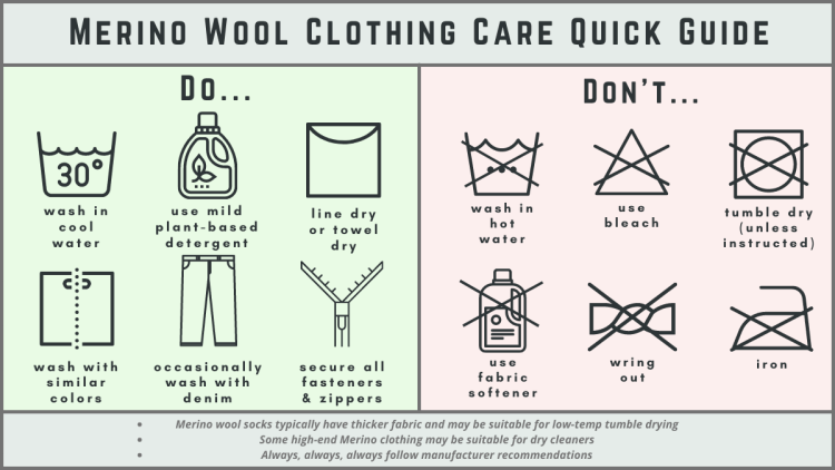 Merino Wool Clothing Care Guide