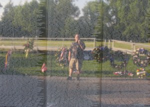 My reflection in the Vietnam Memorial Wall in Washington DC - Memorial Day - 2009