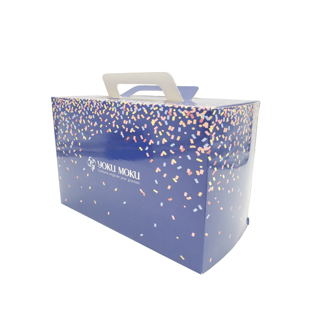 Straight Tuck End Cake Box with Handle