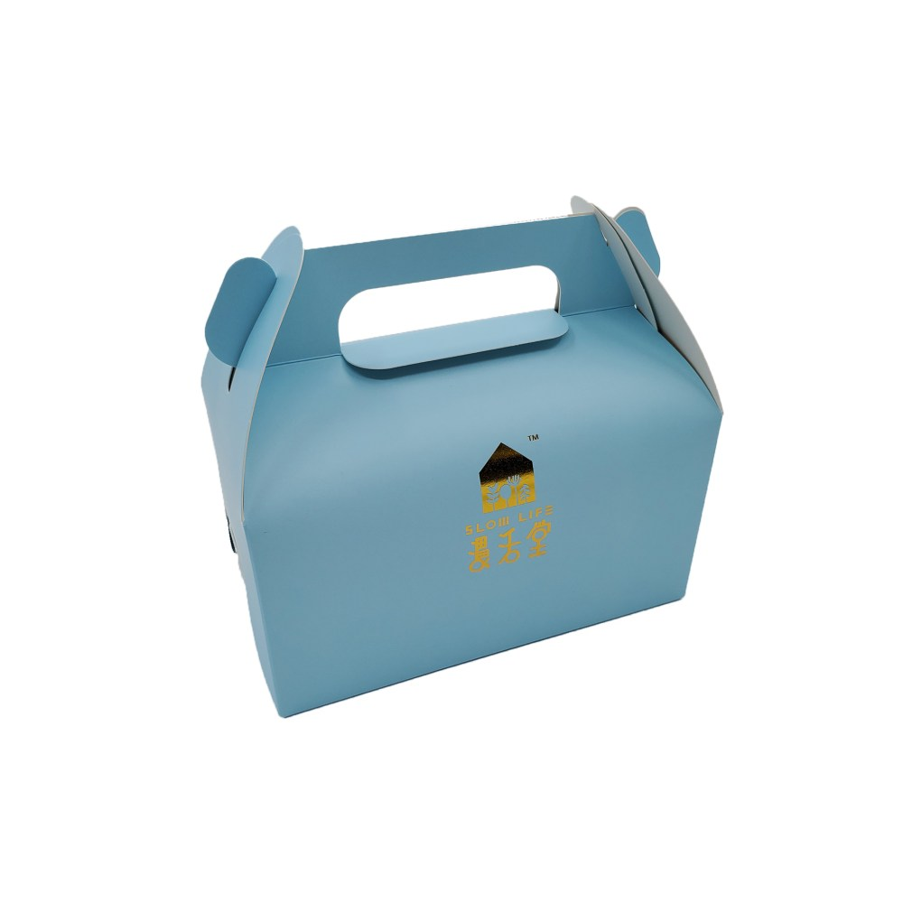 Folding Cake Box with Handle