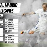 Convocatoria Real Madrid vs Leganés