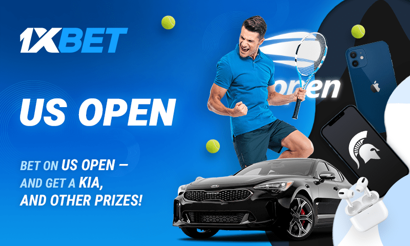 Bet on the US Open and win a KIA Stinger in 1xBet's top promotion!