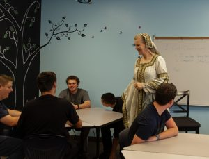 Teacher in Renaissance Dress