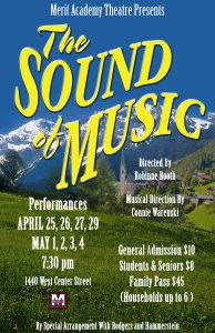 Sound of Music Poster - Merit Academy