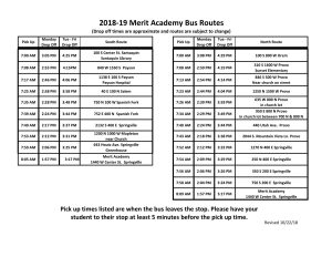 bus route schedule for merit academy