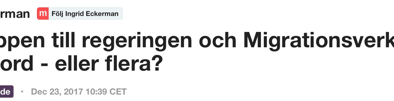 Att antyda eller påstå, som aktiviströrelsen i ett pressmeddelande gör, att det skulle vara politikers fel om en afghan i Sverige väljer att begå självmord är att gå för långt