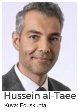 Finland. Förlängd sjukledighet för ifrågasatta, nyinvalda riksdagsledamoten Hussein al-Taee.