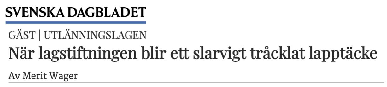 Blott Sverige svenska lapptäckspolitiker har – om de nya ändringarna i den tillfälliga utlänningslagen